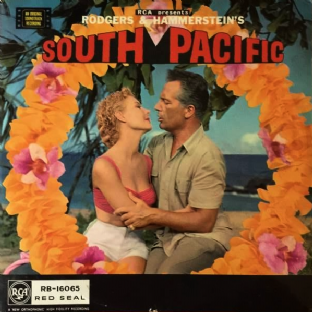 V/A ‎- Rodgers & Hammerstein's South Pacific: Original Soundtrack (LP) (EX/G+)